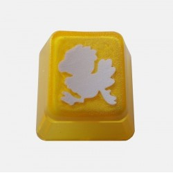 KeyPop Translucent Yellow Chickobo Keycap